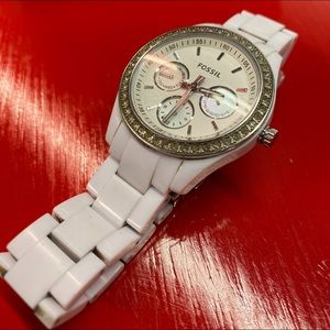 FOSSIL Women's Stainless Steel Glitz Quartz Watch